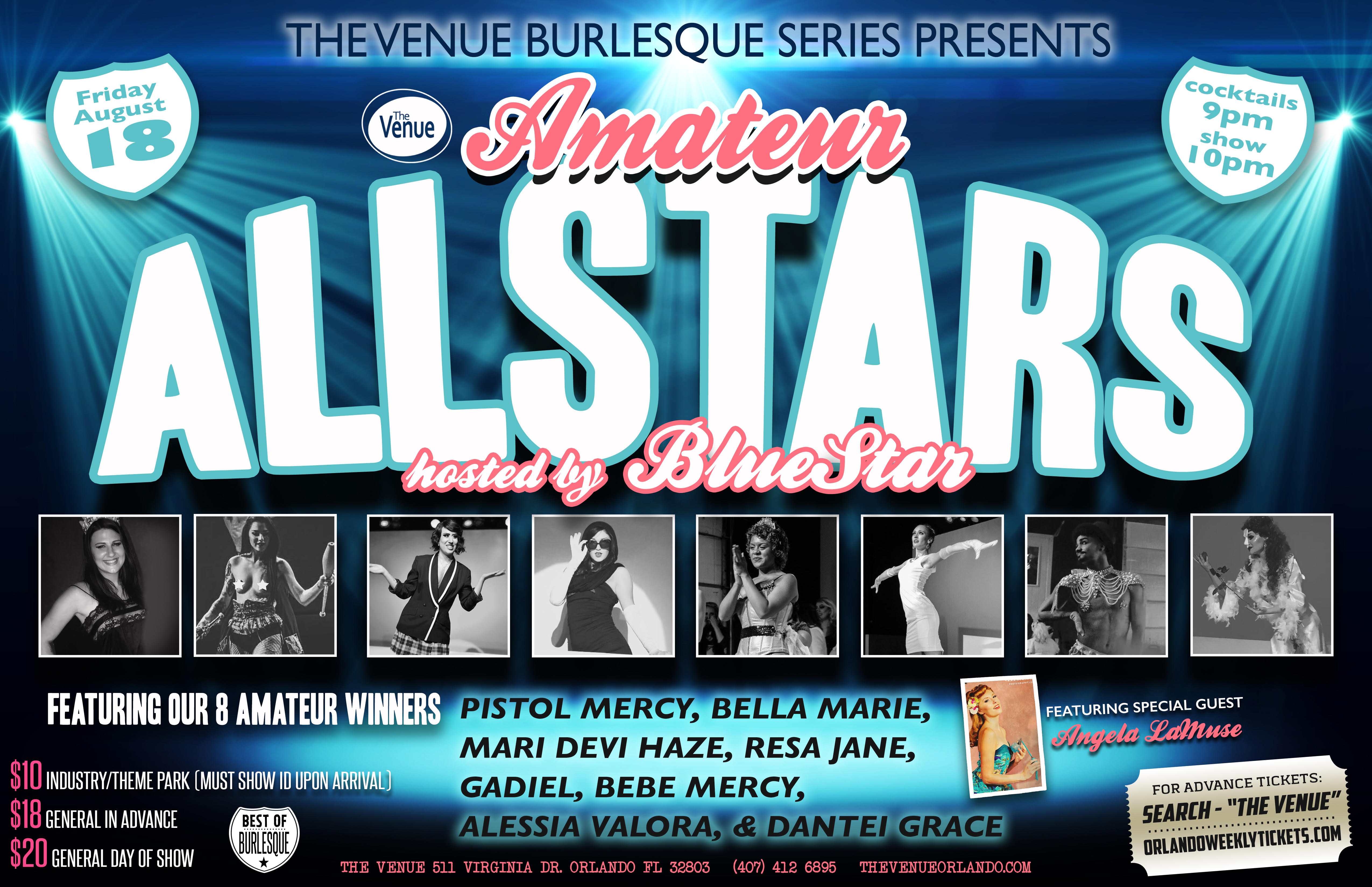 The Venue Burlesque Series Presents: Amateur ALLSTARS hosted by